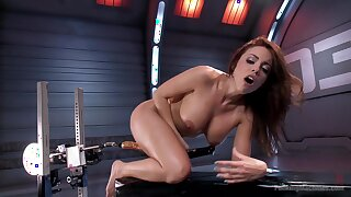 MILF uses the fuck machine to suit her deep sexual needs